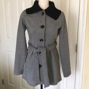 SOFT SHELL BUTTON UP BELTED COAT